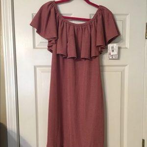 LuLaRoe Women's Cici Dress Large Rose Pink NWT